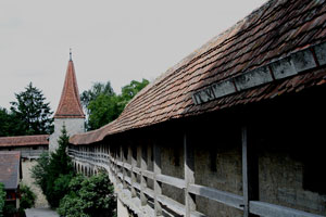 Stadtmauer in Rothenburg